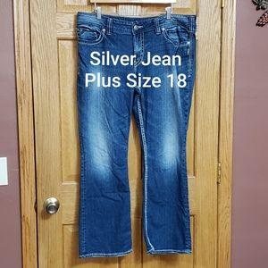 Silver Suki Jeans Plus Size 18